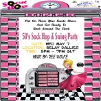 50s Sock Hop and Swing Party - May 7 5pm