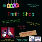 Relay Rocker Thrift Shop Event Board